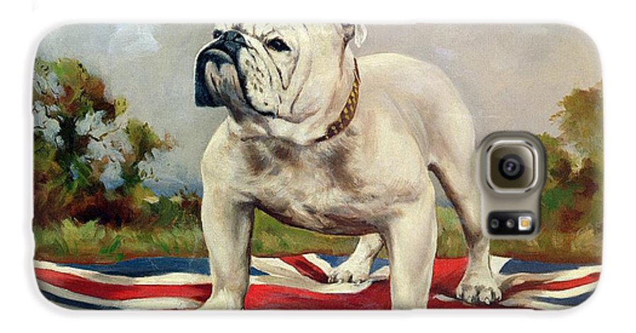 Grb; Union Jack; Dog Galaxy S6 Case featuring the painting British Bulldog by English School