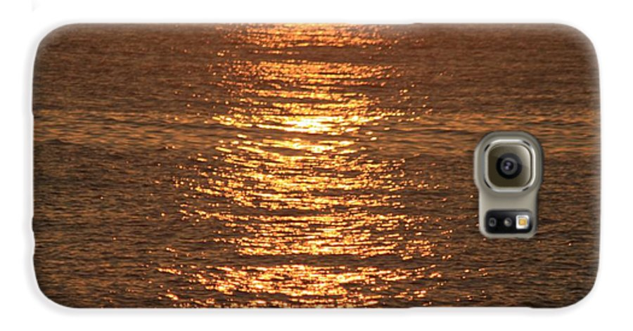 Ocean Galaxy S6 Case featuring the photograph Bronze Reflections by Nadine Rippelmeyer
