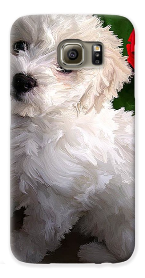 Bichon Friese Galaxy S6 Case featuring the painting Bryce by David Wagner