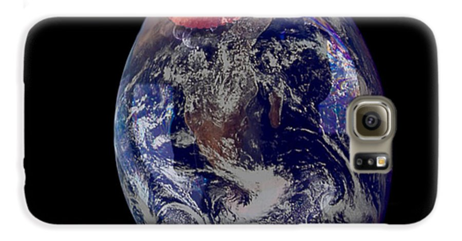 Earth Galaxy S6 Case featuring the photograph Bubble Earth by Jim DeLillo
