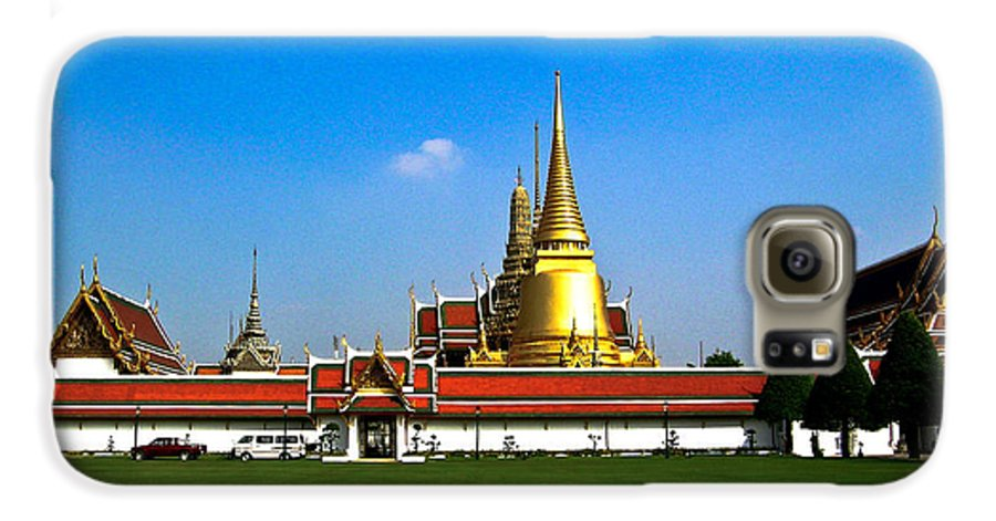 Buddha Galaxy S6 Case featuring the photograph Buddhaist Temple by Douglas Barnett