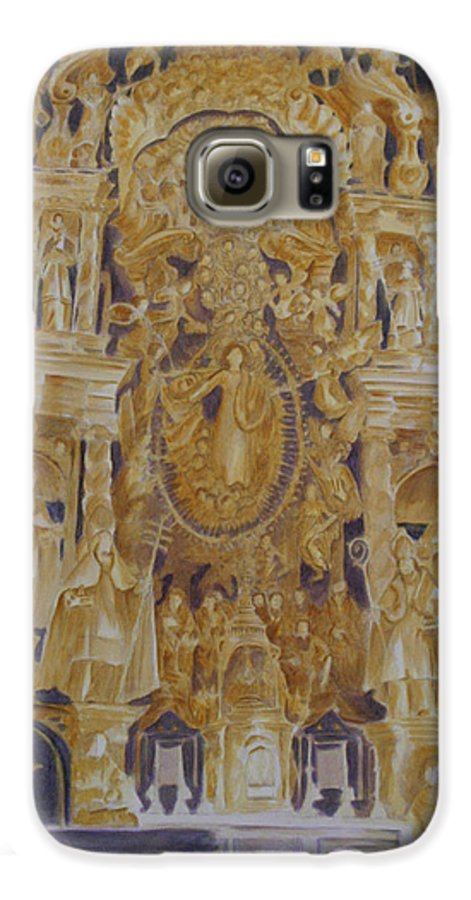 Saints Galaxy S6 Case featuring the painting Builders' Guild by Nik Helbig