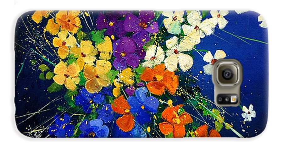 Poppies Galaxy S6 Case featuring the print Bunch 0408 by Pol Ledent