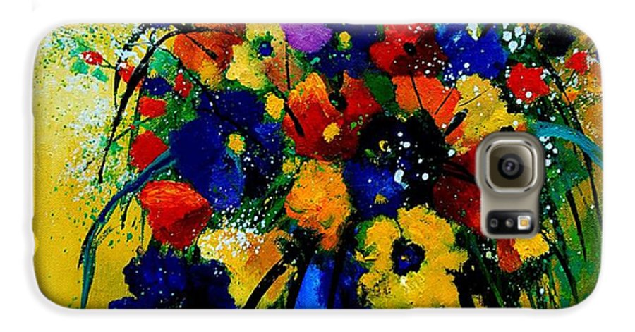 Poppies Galaxy S6 Case featuring the painting Bunch 0508 by Pol Ledent