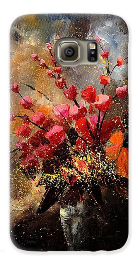Poppies Galaxy S6 Case featuring the painting Bunch 1207 by Pol Ledent