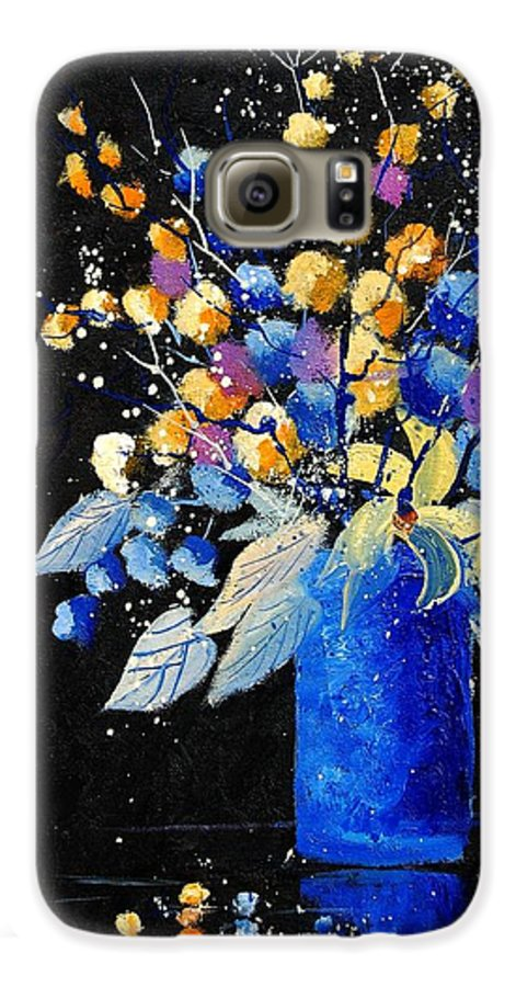 Flowers Galaxy S6 Case featuring the painting Bunch 451008 by Pol Ledent