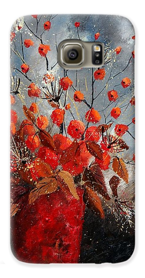 Flowers Galaxy S6 Case featuring the painting Bunch 560608 by Pol Ledent