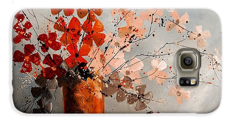 Flowers Galaxy S6 Case featuring the painting Bunch 670908 by Pol Ledent