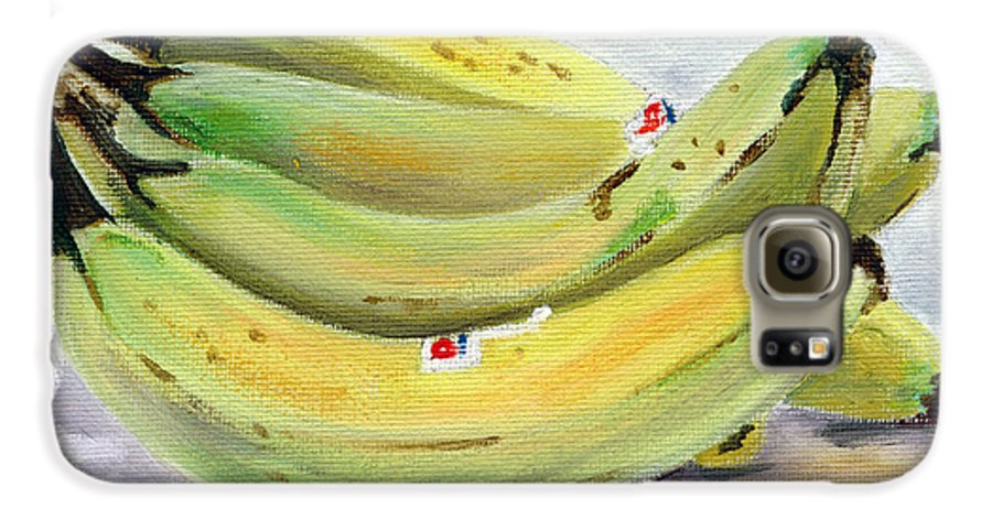 Still-life Galaxy S6 Case featuring the painting Bunch Of Bananas by Sarah Lynch