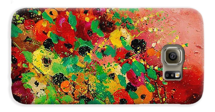 Flowers Galaxy S6 Case featuring the painting Bunch Of Flowers 0507 by Pol Ledent