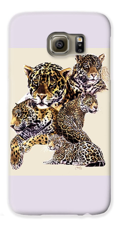 Jaguar Galaxy S6 Case featuring the drawing Burn by Barbara Keith