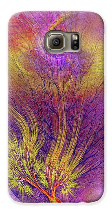 Burning Bush Galaxy S6 Case featuring the digital art Burning Bush by John Beck