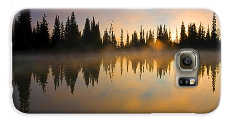 Lake Galaxy S6 Case featuring the photograph Burning Dawn by Mike Dawson