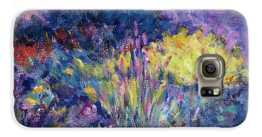 Impressionism Galaxy S6 Case featuring the painting Burst Of Color-last Night In Monets Gardens by Tara Moorman