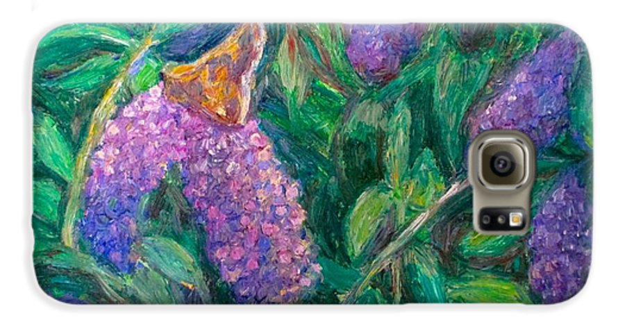 Butterfly Galaxy S6 Case featuring the painting Butterfly View by Kendall Kessler