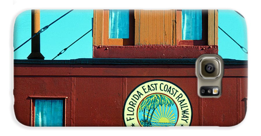 Florida Keys Train Railroad Galaxy S6 Case featuring the photograph Caboose by Carl Purcell