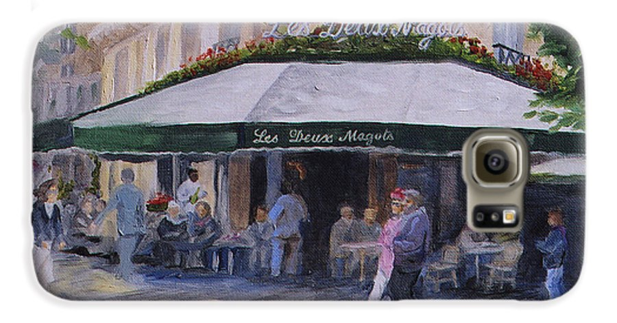 Cafe Magots Galaxy S6 Case featuring the painting Cafe Magots by Jay Johnson
