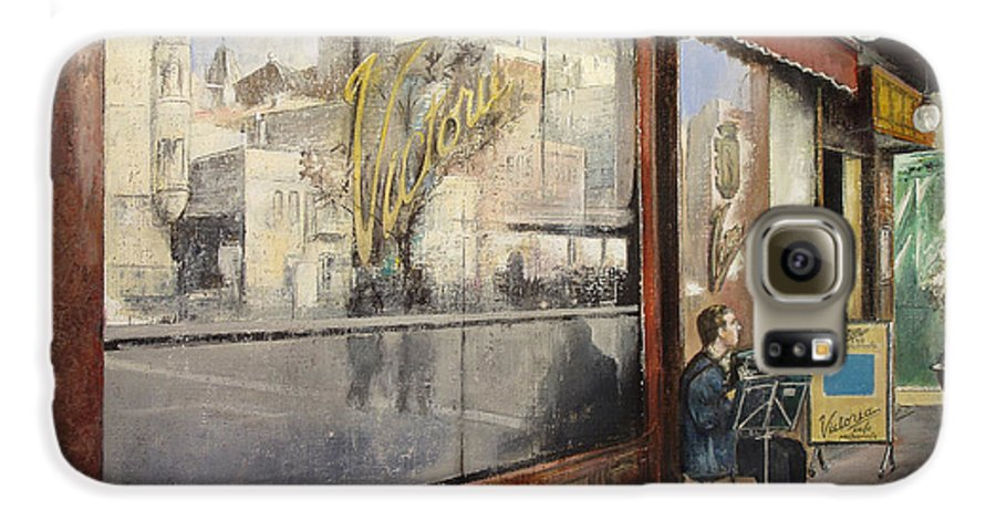 Cafe Galaxy S6 Case featuring the painting Cafe Victoria by Tomas Castano