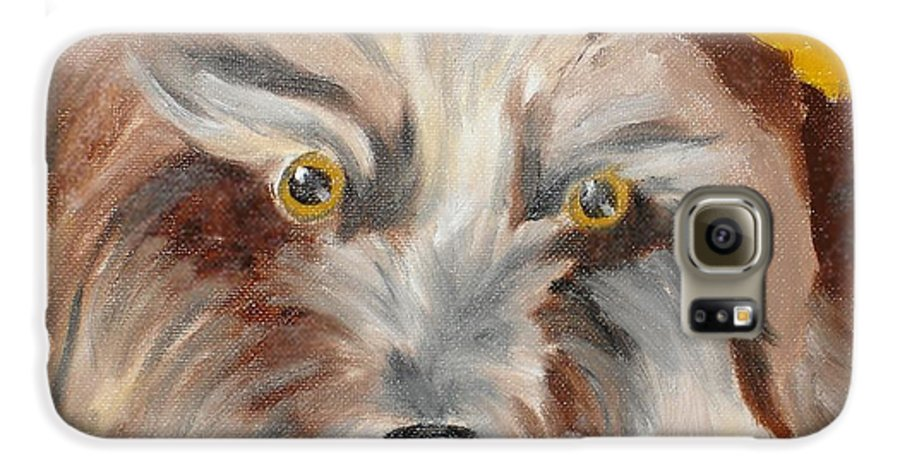 Dog Galaxy S6 Case featuring the painting Cairn Terrier by Susan Kubes