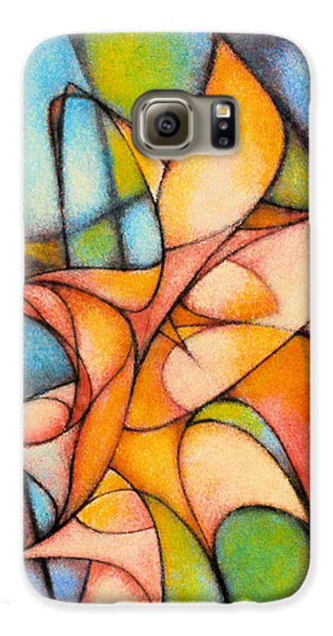 Contemporary Galaxy S6 Case featuring the painting Calla Lillies by Kevin Lawrence Leveque