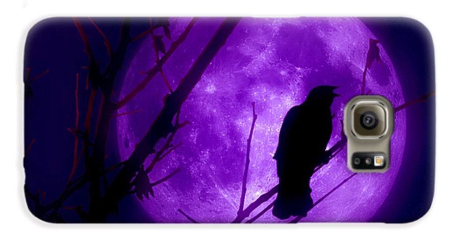 Moon Galaxy S6 Case featuring the photograph Calling Out To The Night by Kenneth Krolikowski