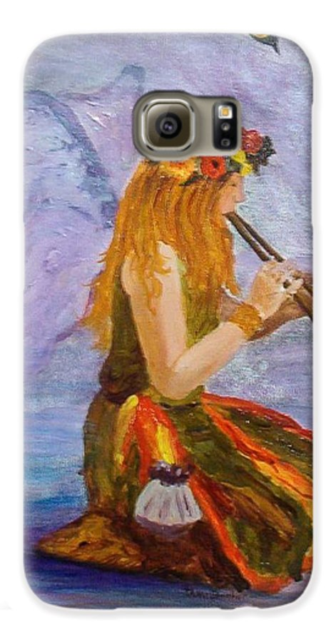 Galaxy S6 Case featuring the painting Calling The Wolf Spirit by Tami Booher