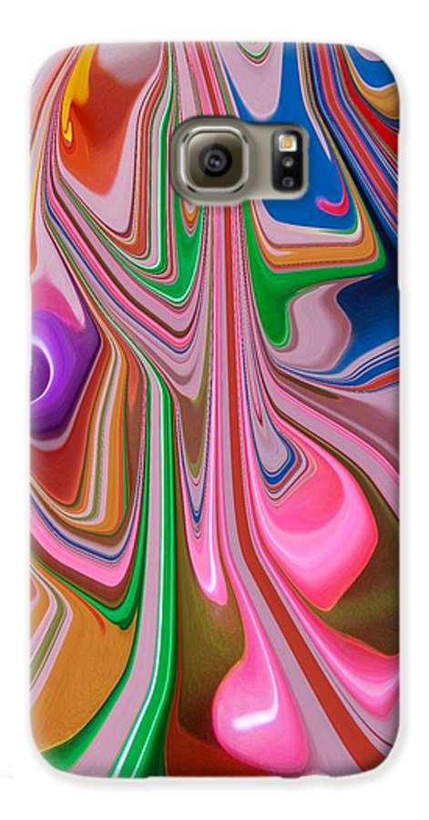 Abstract Galaxy S6 Case featuring the photograph Candy Melt by Florene Welebny
