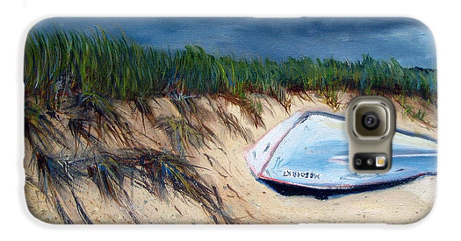 Boat Galaxy S6 Case featuring the painting Cape Cod Boat by Paul Walsh