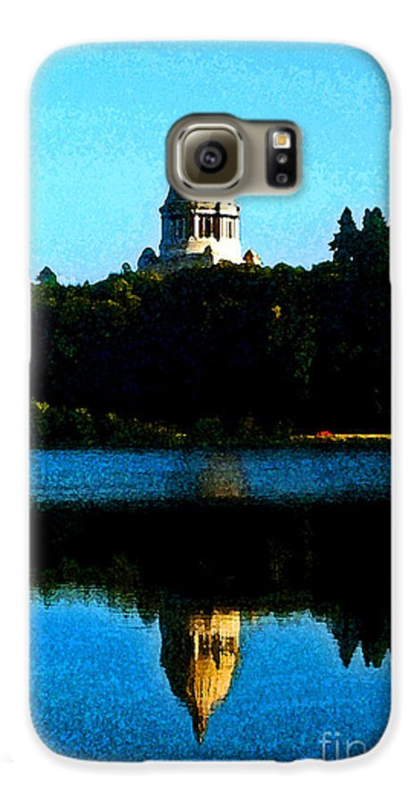 Lake Galaxy S6 Case featuring the photograph Capital Lake by Larry Keahey