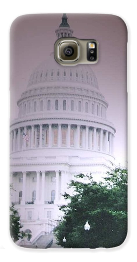 Capitol Galaxy S6 Case featuring the photograph Capitol In Pink by Pharris Art