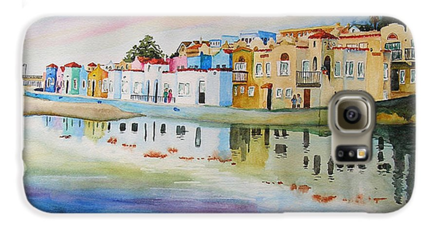 Capitola Galaxy S6 Case featuring the painting Capitola by Karen Stark