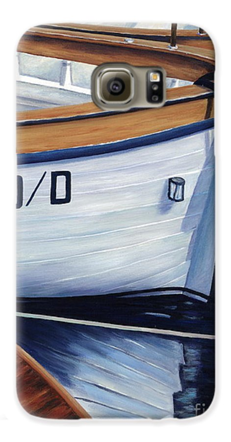 Nautical Galaxy S6 Case featuring the painting Capri Boats by Danielle Perry