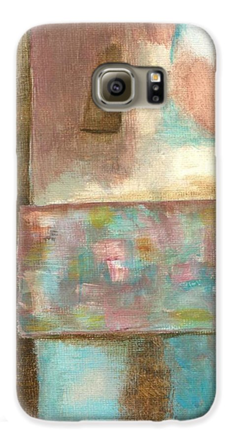 Abstract Galaxy S6 Case featuring the painting Captive Dreamer by Itaya Lightbourne