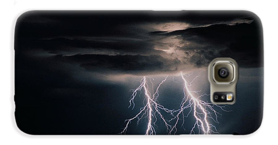 Arizona Galaxy S6 Case featuring the photograph Carefree Lightning by Cathy Franklin