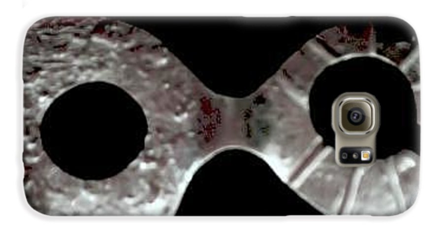 Carnival Type Face Mask For Wearing In .999 Fine Silver Galaxy S6 Case featuring the photograph Carnival 002 by Robert aka Bobby Ray Howle