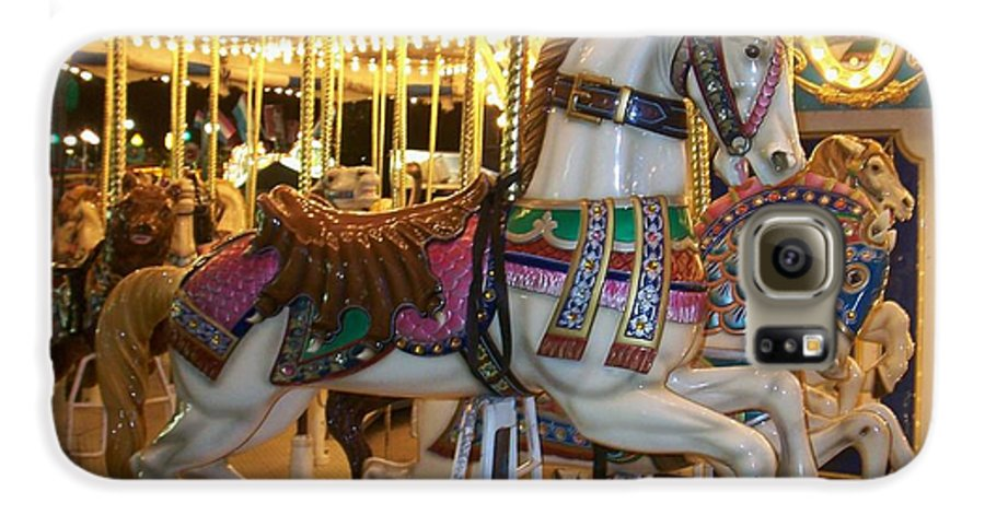 Carosel Horse Galaxy S6 Case featuring the photograph Carosel Horse by Anita Burgermeister