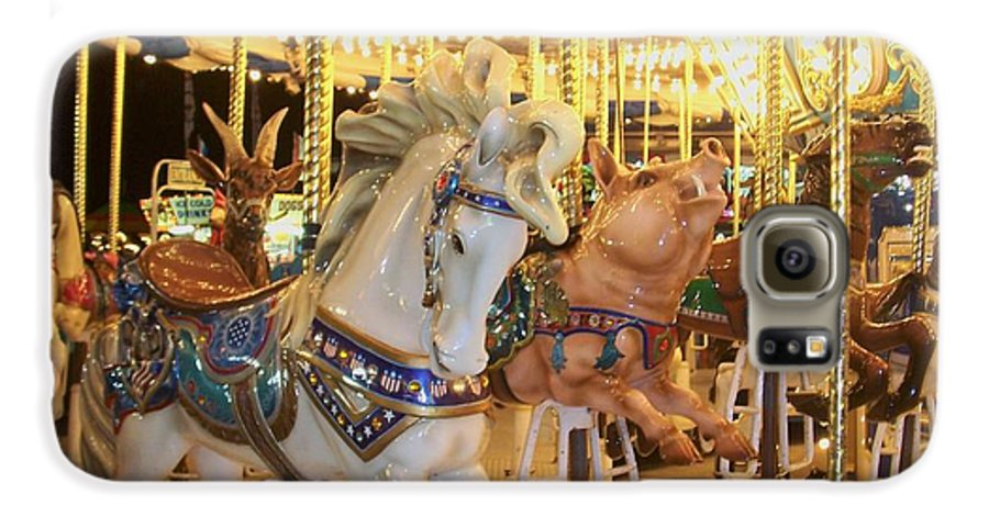 Carosel Horse Galaxy S6 Case featuring the photograph Carousel Horse 2 by Anita Burgermeister