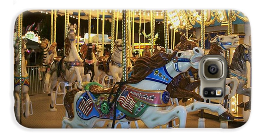 Carousel Horse Galaxy S6 Case featuring the photograph Carousel Horse 3 by Anita Burgermeister