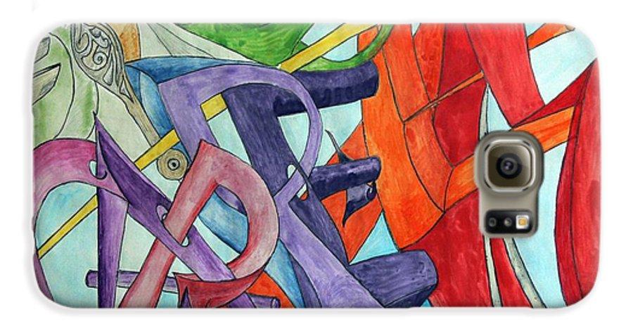 Carpe Diem Galaxy S6 Case featuring the painting Carpe Diem by Helmut Rottler