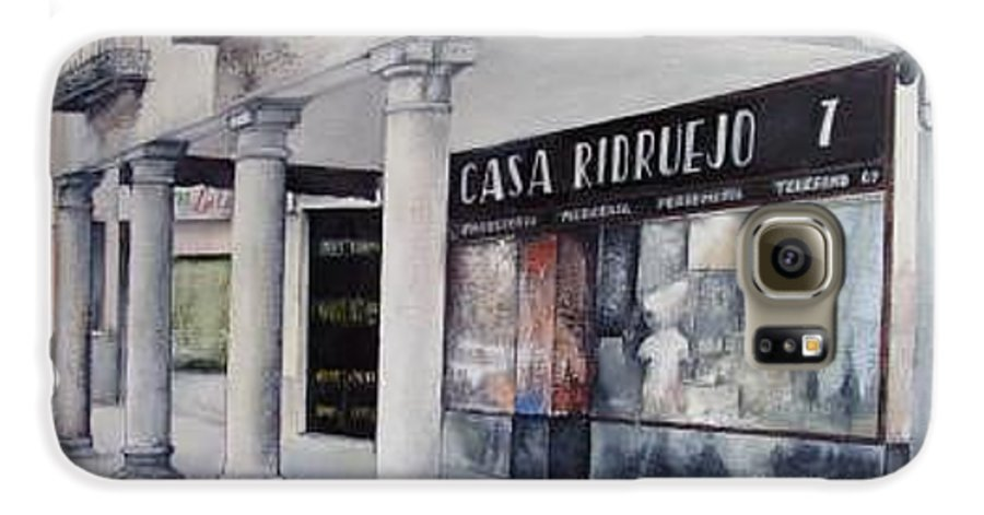 Casa Galaxy S6 Case featuring the painting Casa Ridruejo Arevalo by Tomas Castano