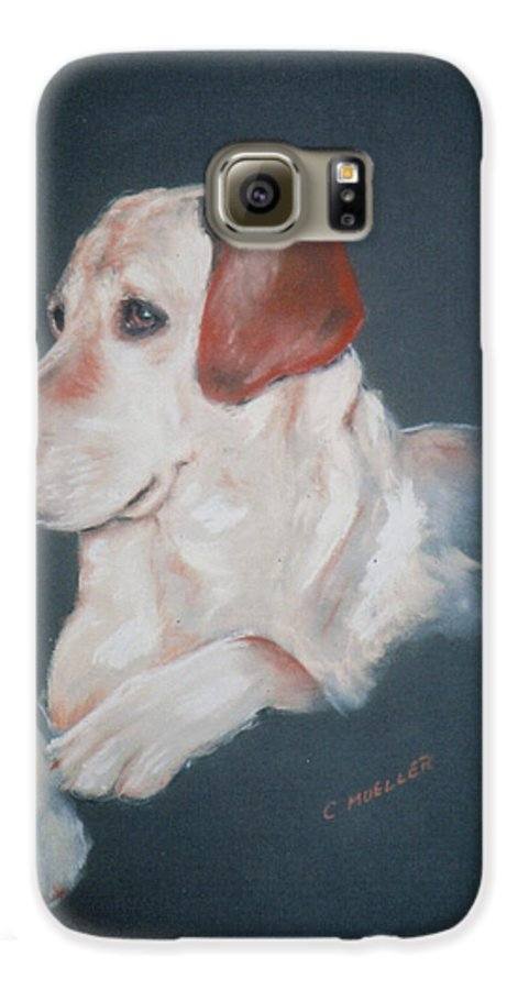 Dog Galaxy S6 Case featuring the painting Casey by Carol Mueller