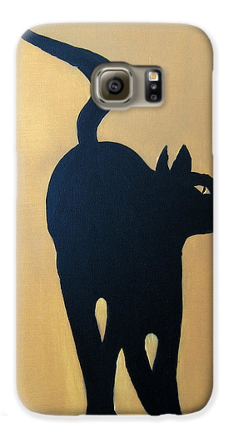 Cat Galaxy S6 Case featuring the painting Cat Dance..... Optical Illusion by Patrick Trotter