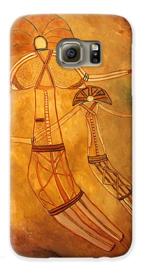 Cave Painting Galaxy S6 Case featuring the painting Cave Love by Pilar Martinez-Byrne