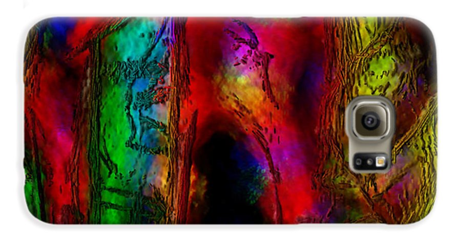 Abstract Galaxy S6 Case featuring the painting Caverns Of The Mind by Dee Flouton