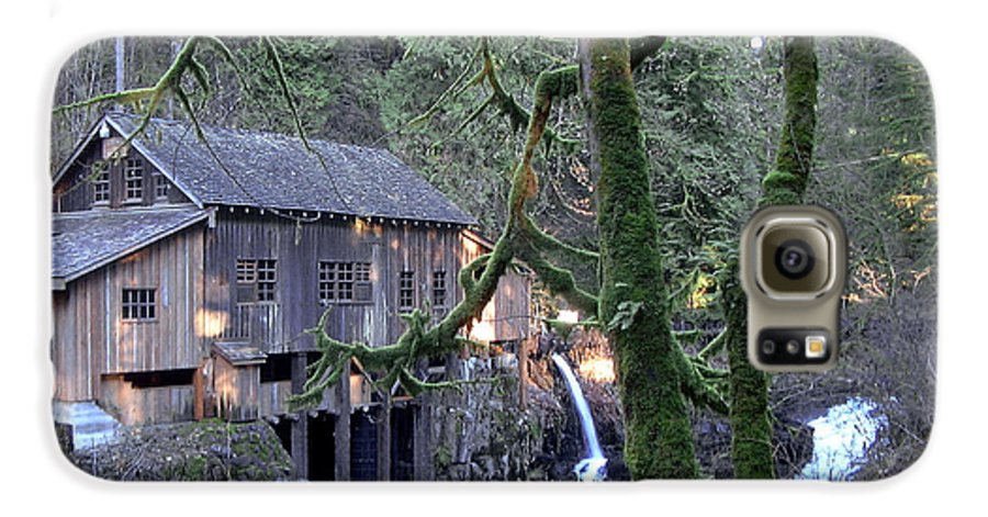 Landscape Galaxy S6 Case featuring the photograph Cedar Creek Grist Mill by Larry Keahey