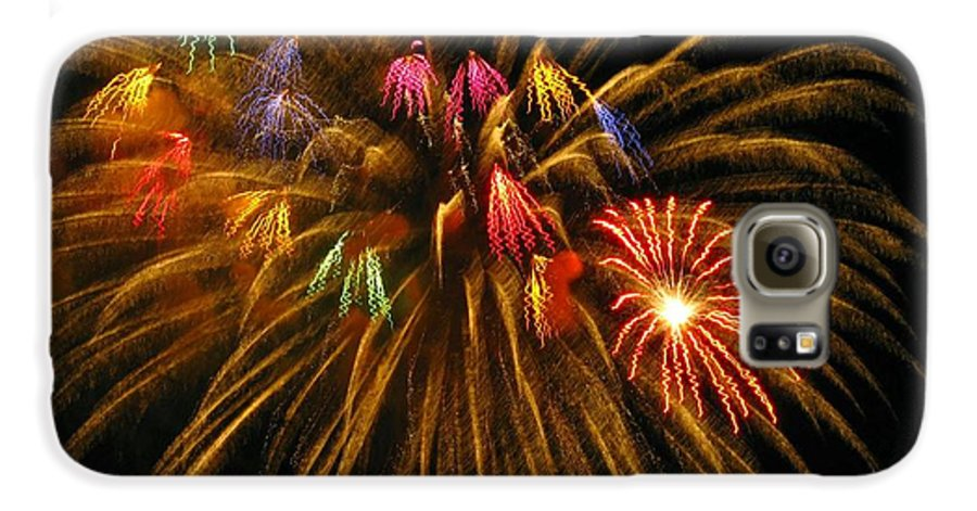 Fireworks Galaxy S6 Case featuring the photograph Celebrate by Rhonda Barrett