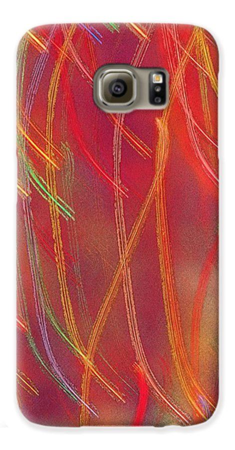 Abstract Galaxy S6 Case featuring the photograph Celebration by Gaby Swanson