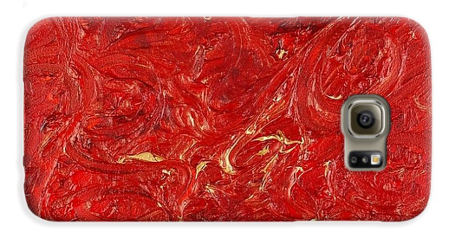 Red Galaxy S6 Case featuring the painting Celebration by Nadine Rippelmeyer