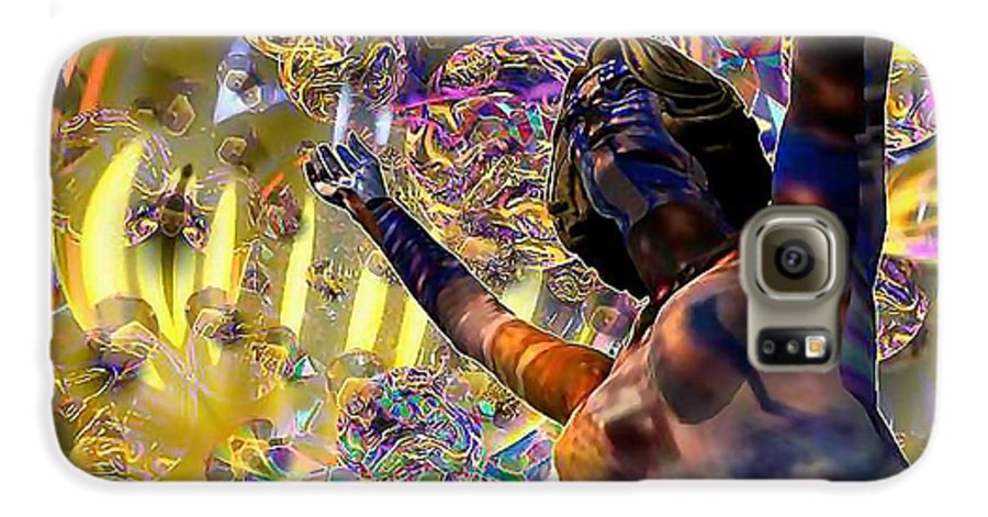 Woman Galaxy S6 Case featuring the digital art Celebration Spirit by Dave Martsolf