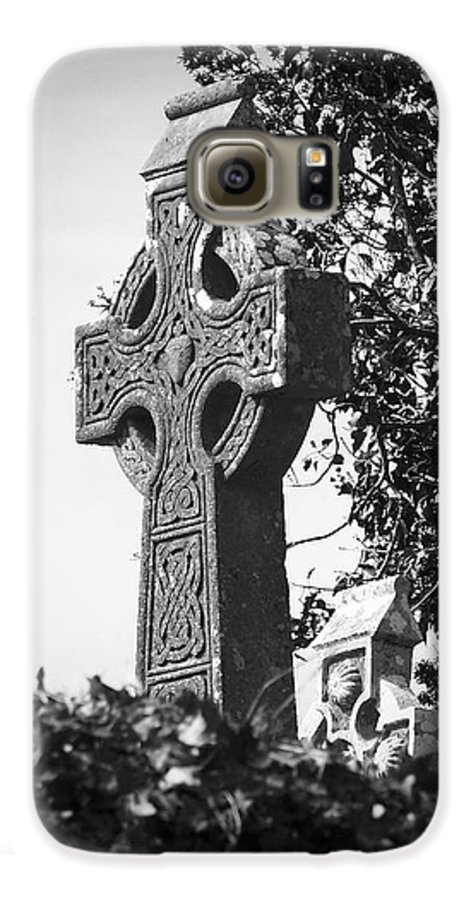 Celtic Galaxy S6 Case featuring the photograph Celtic Cross At Fuerty Cemetery Roscommon Ireland by Teresa Mucha